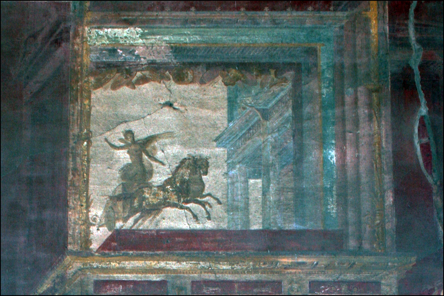 Painting of Winged Figure in Chariot