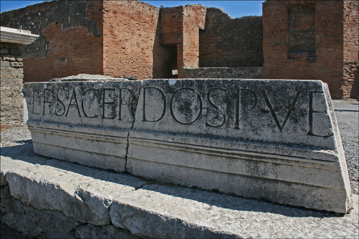 Part of Eumachia's Inscription