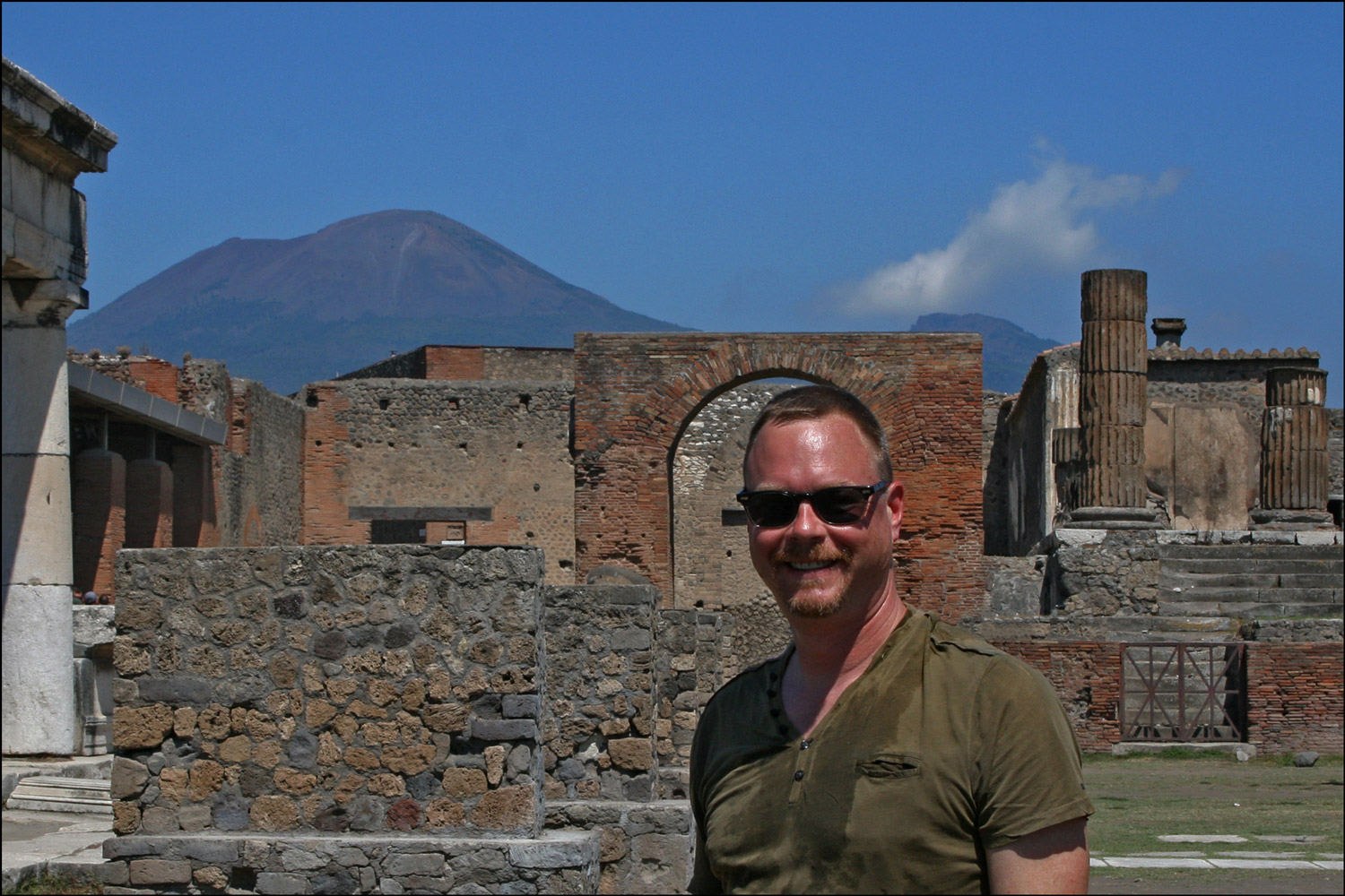 The Author at the Forum of Pompeii
