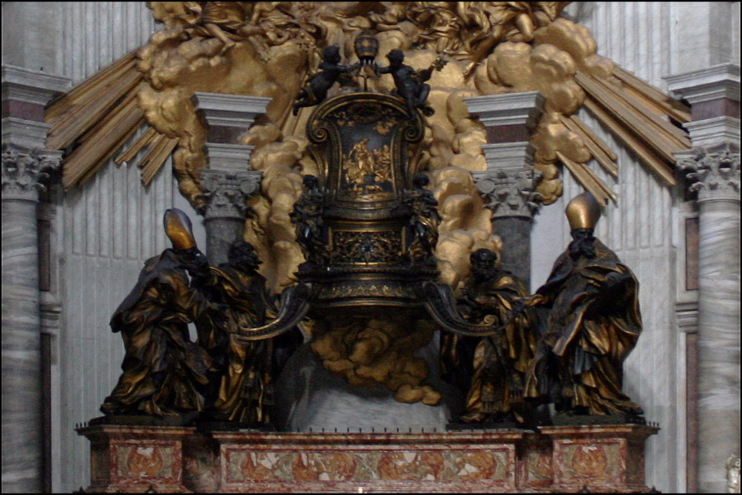 The Altar of the Chair of Saint Peter