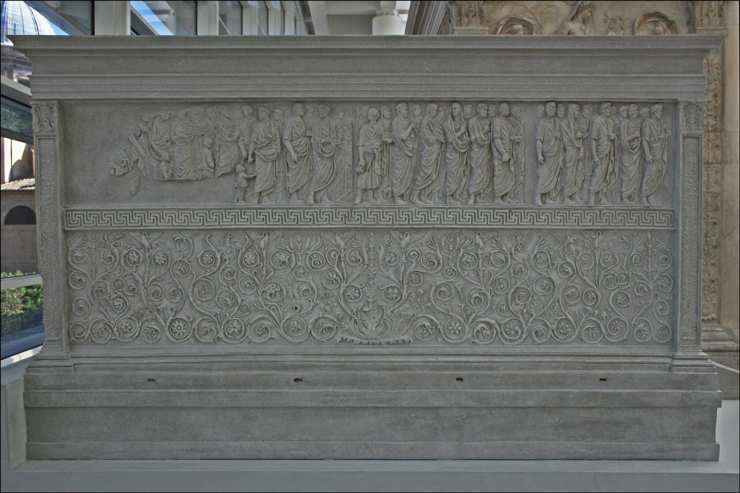 Ara Pacis Augustae - Model of North Wall
