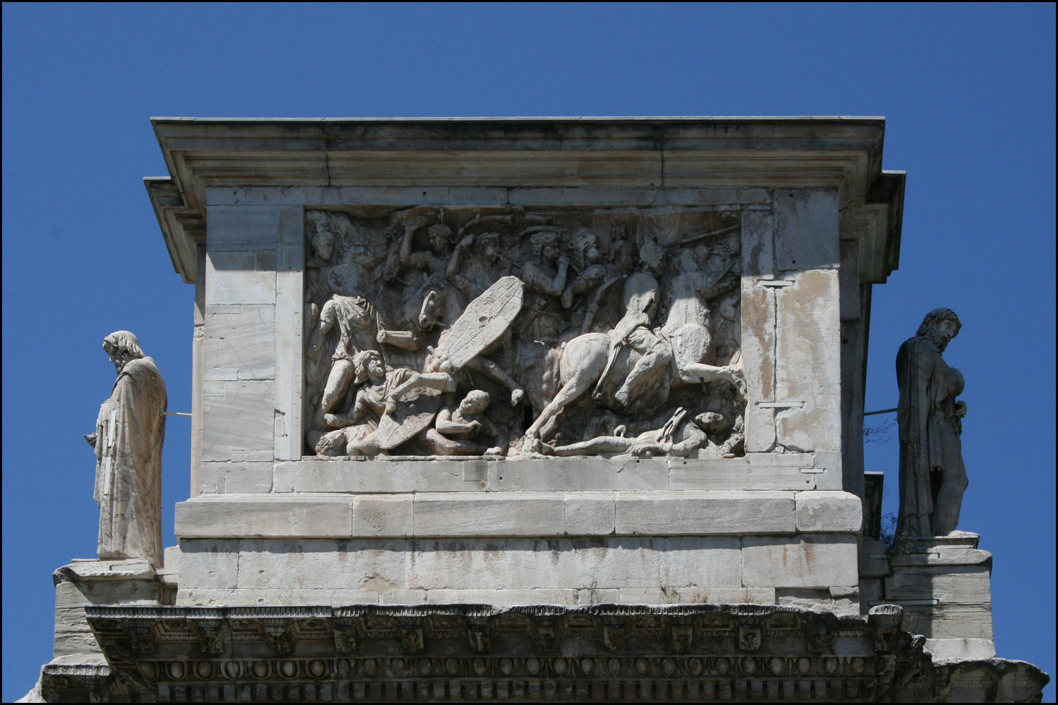 Battle Scene on the East Face of the Arch of Constantine