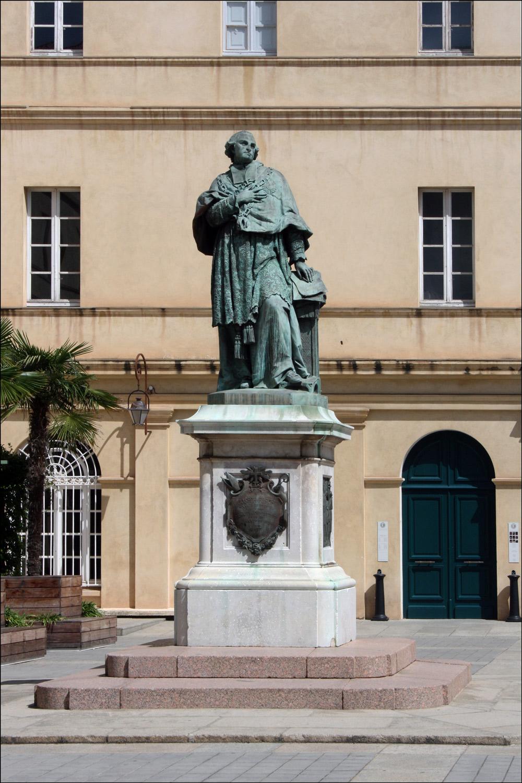 Statue of Cardinal Fesch at Palais Fesch