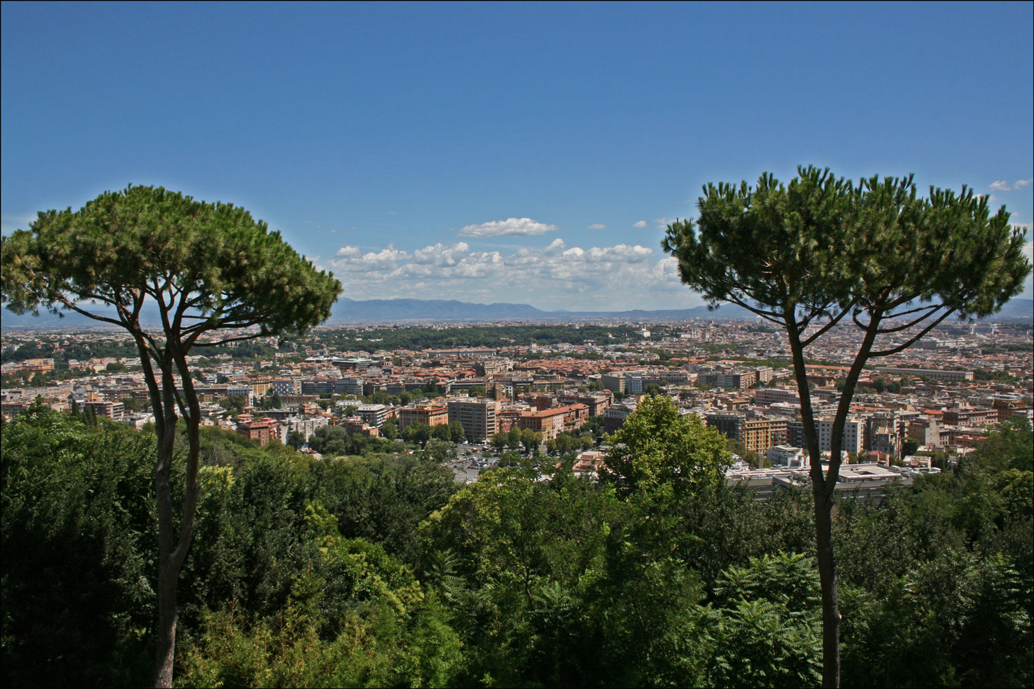 View from the Rome Cavalieri Hotel