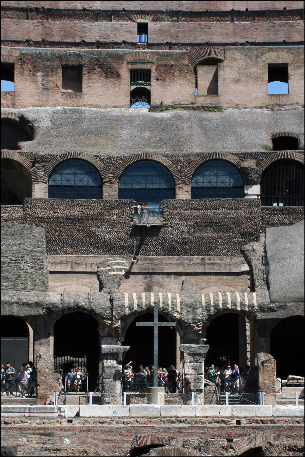 Details Of The Interior Of The Colosseum In Rome Italy