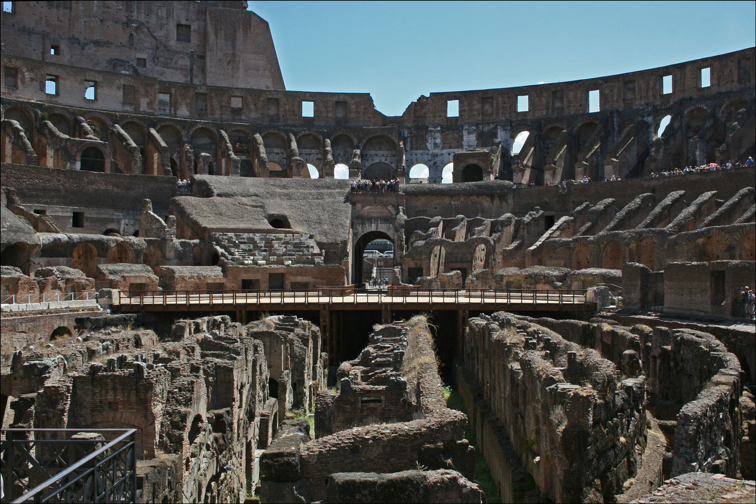 The Interior Of The Colosseum In Rome Italy Steve S