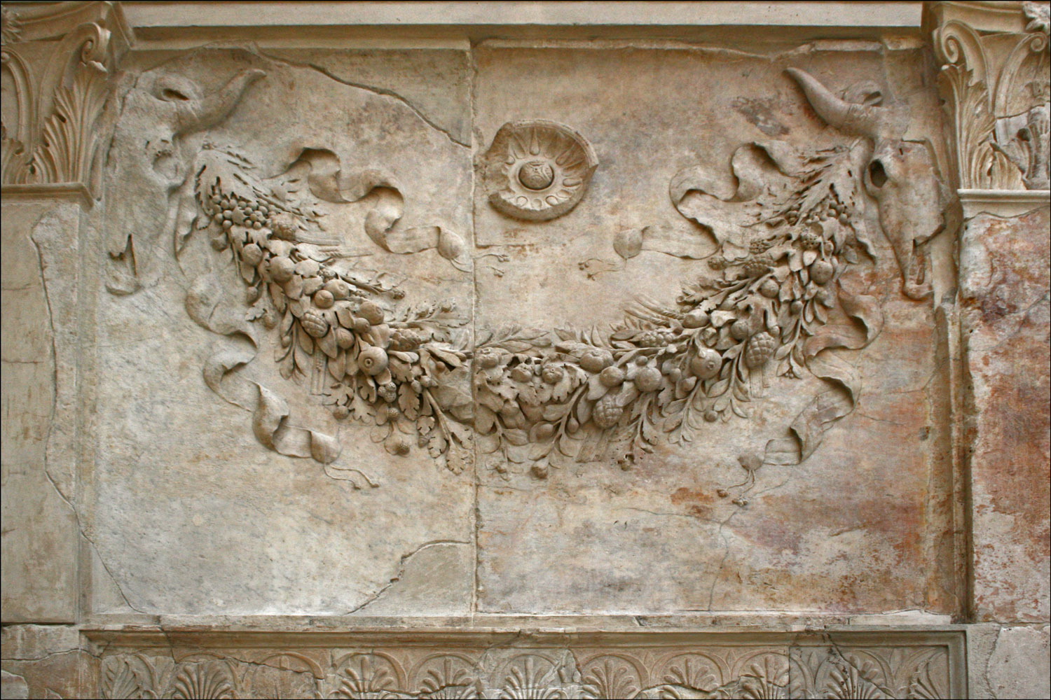 Garland on the Interior of the Ara Pacis Augustae