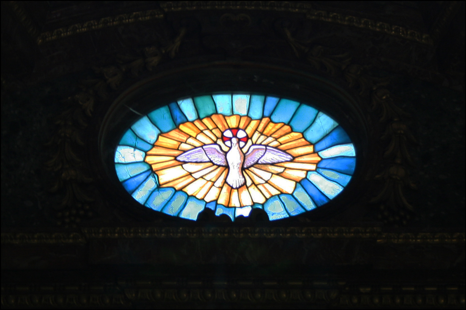 Stained Glass Window of the Holy Spirit