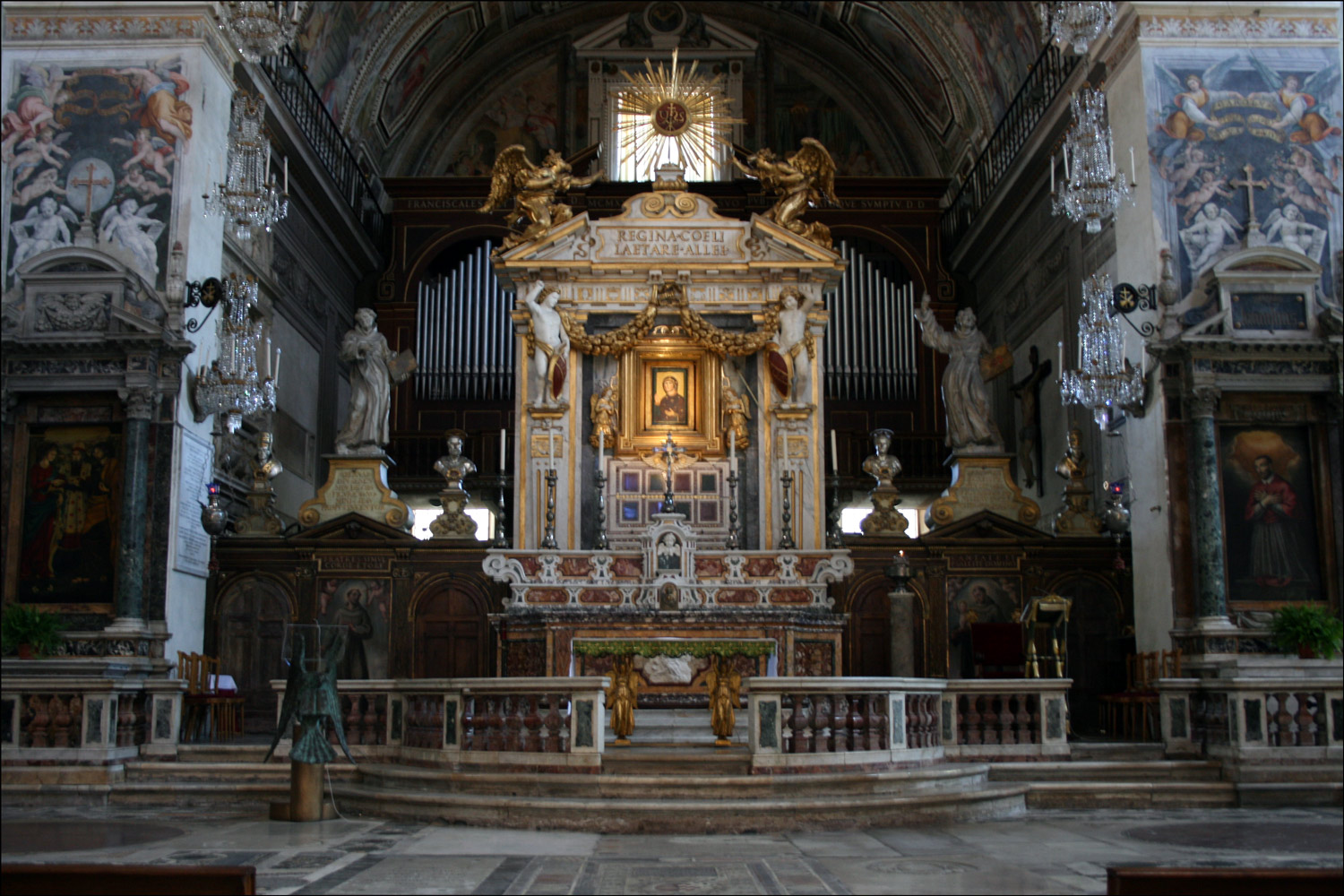 Main Altar of the Basilica of Santa Maria in Aracoeli
