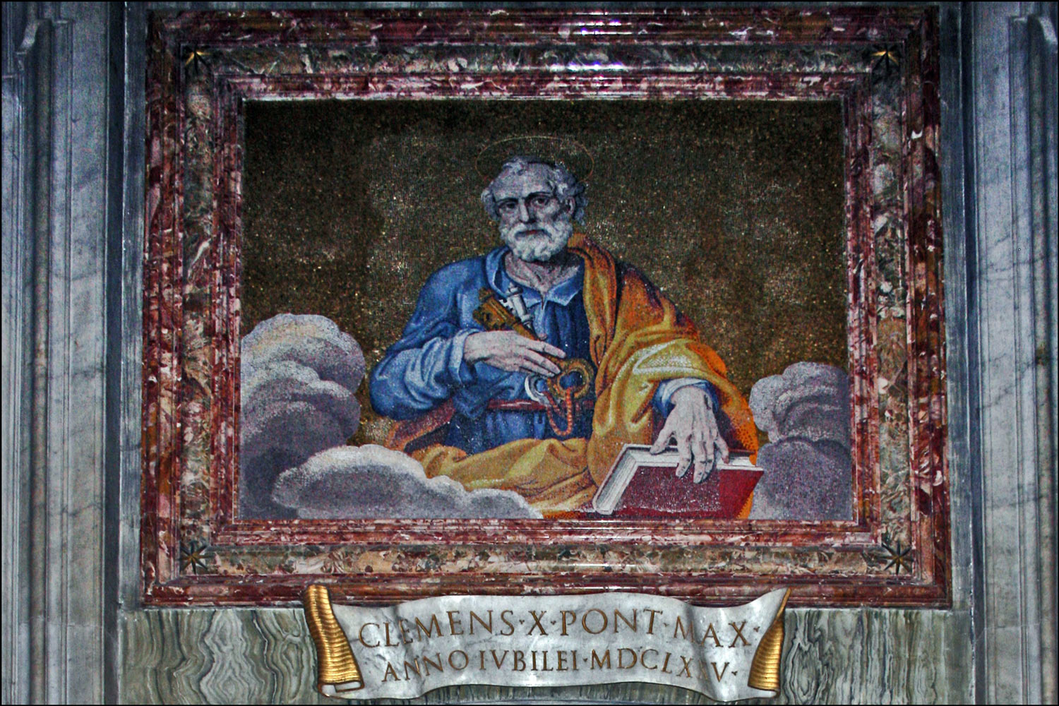 Mosaic of Saint Peter