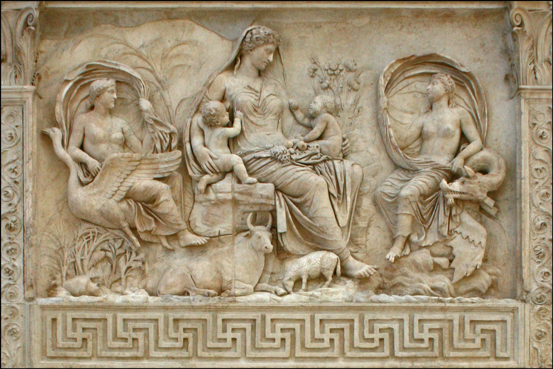 Tellus Panel on the Ara Pacis Augustae