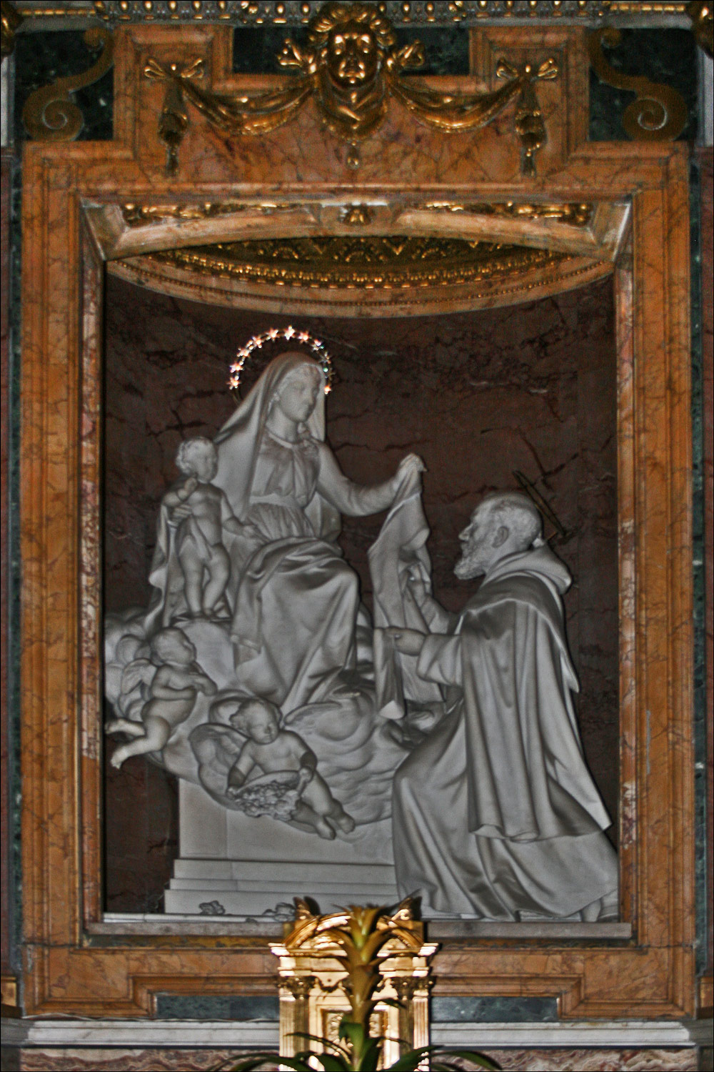 Our Lady of Mount Carmel Giving the Scapular to St. Simon Stock