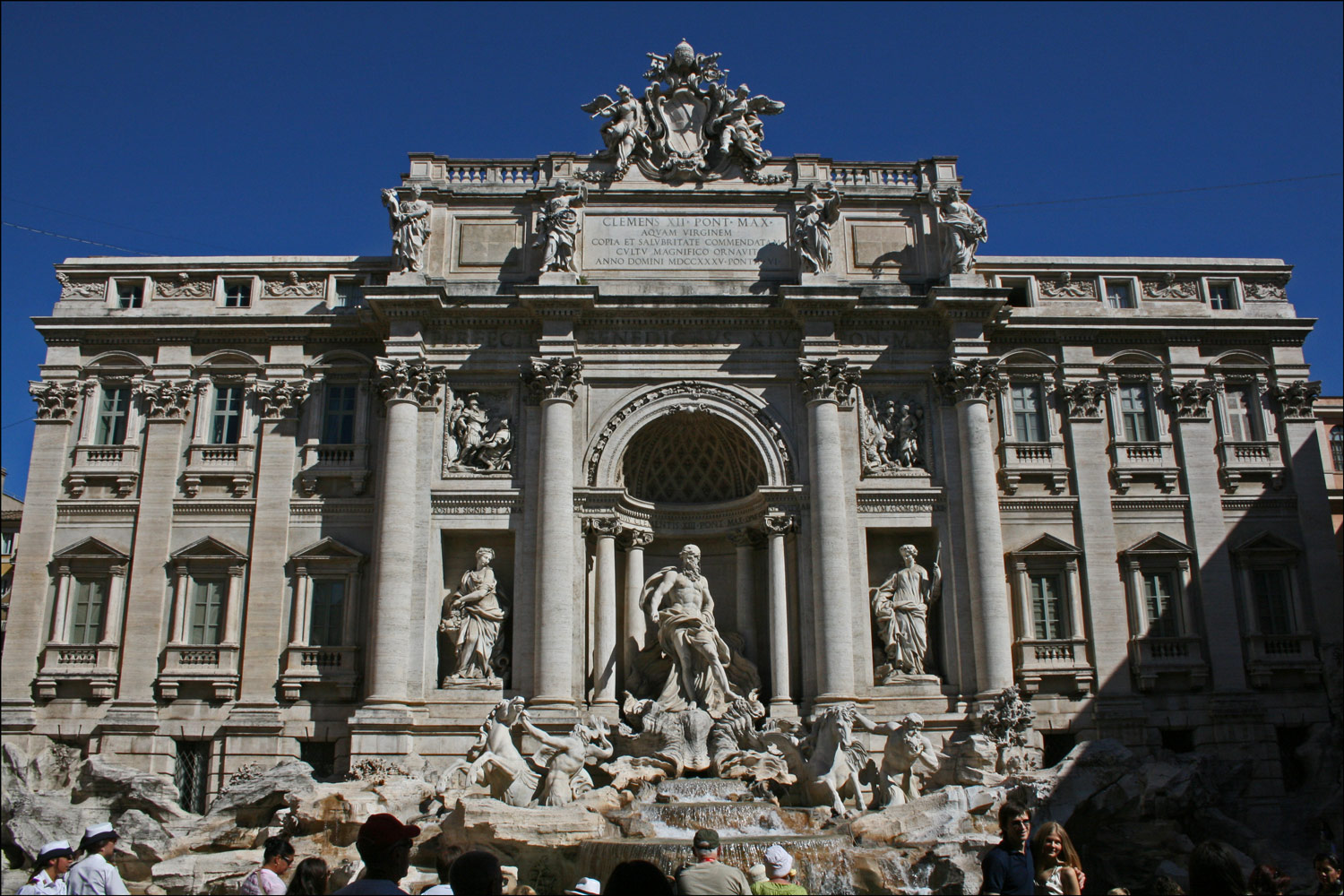 The Trevi Fountain and the Palazzo Poli