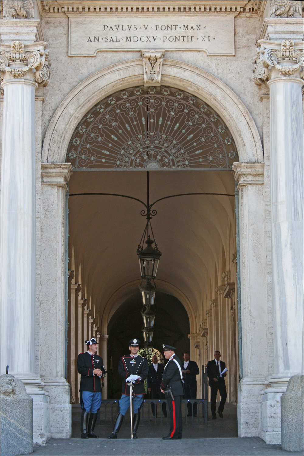 Entrance to Palazzo del Quirinale