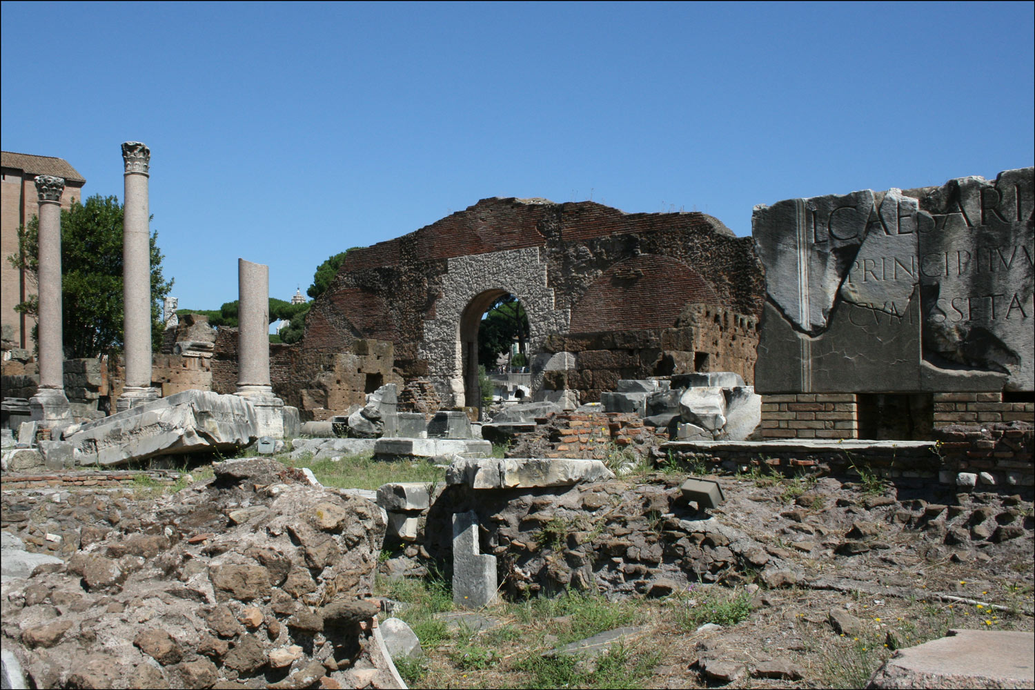 Remnants of the Basilica Aemilia