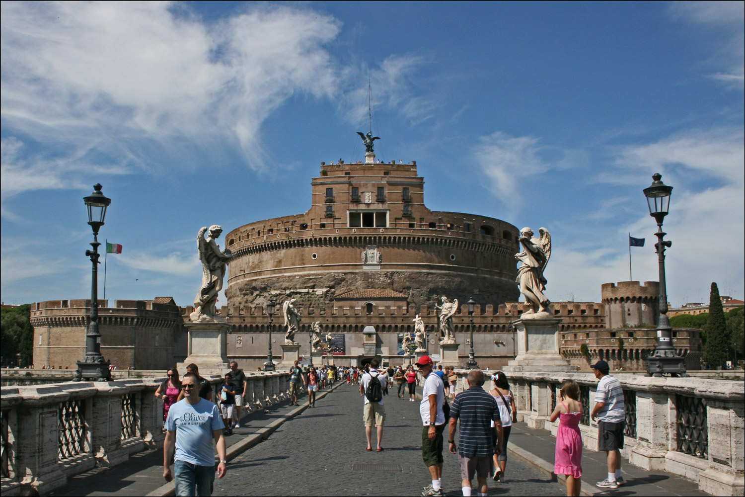 Castel Sant'Angelo from the Ponte Sant'Angelo