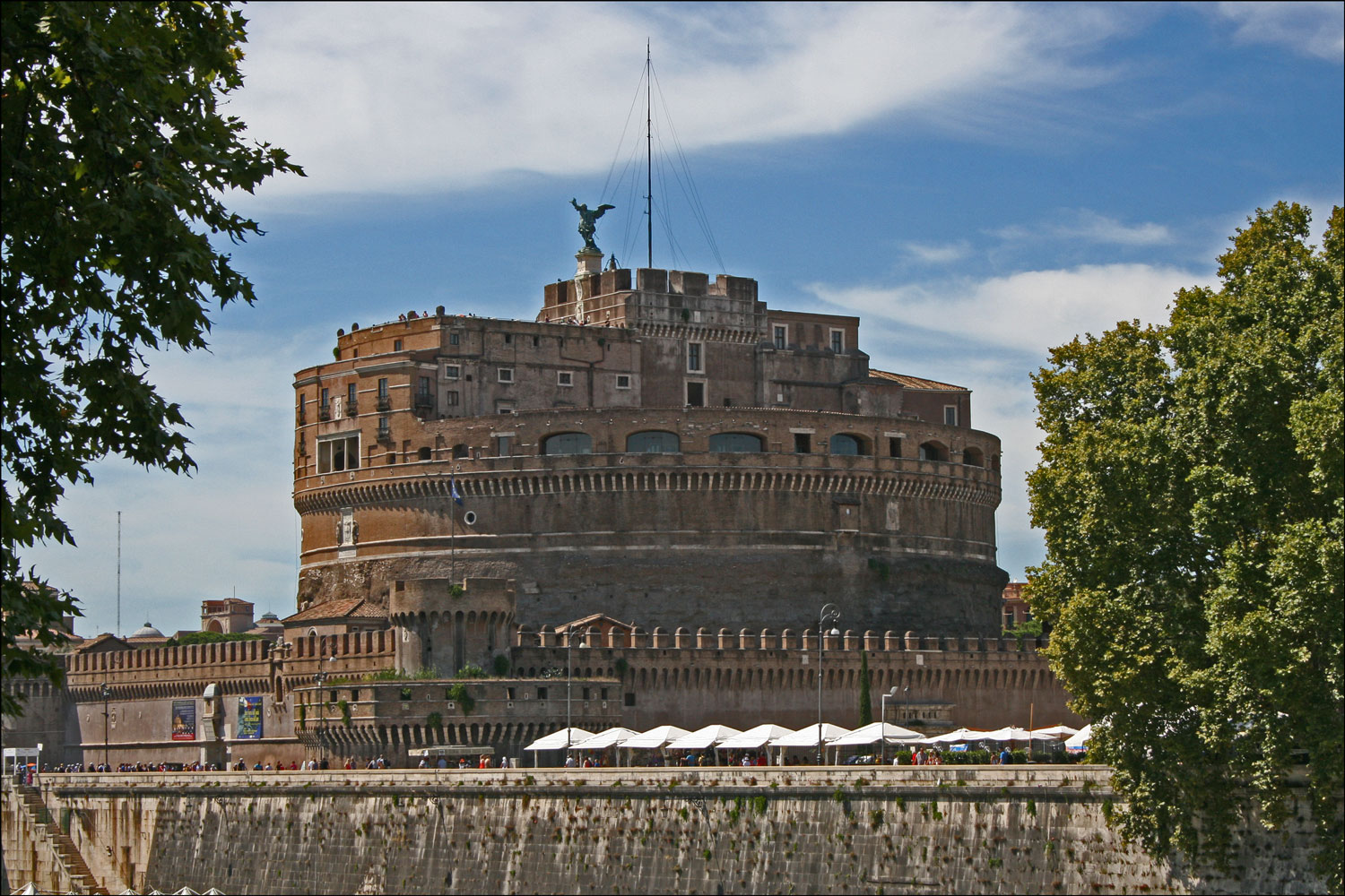 Castel Sant'Angelo from the Left Bank of the Tiber