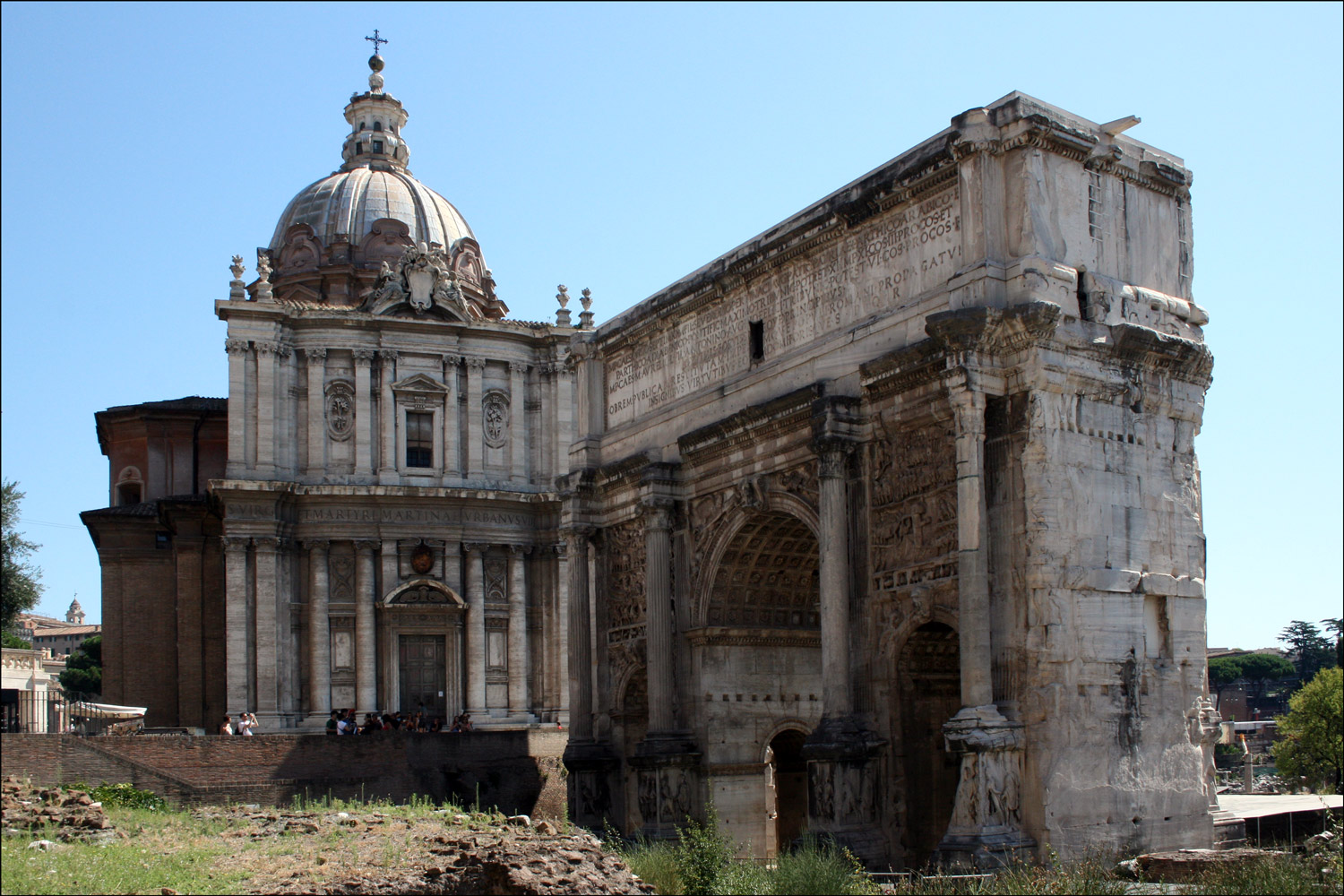 Church of Santi Luca e Martina / Arch of Septimius Severus