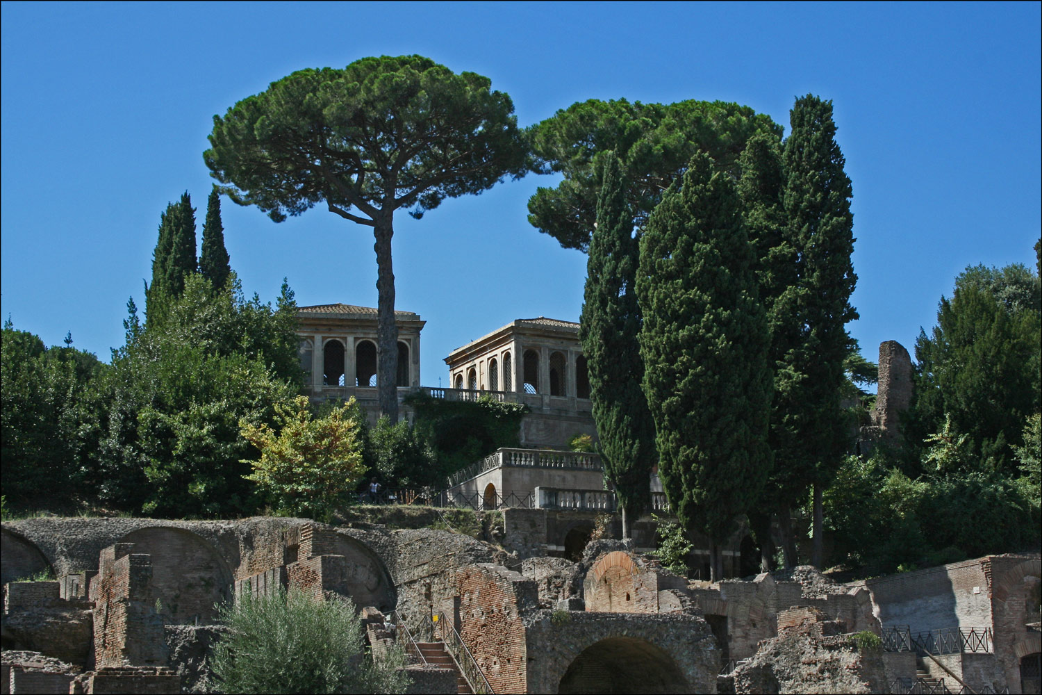 The Farnese Gardens from the Roman Forum