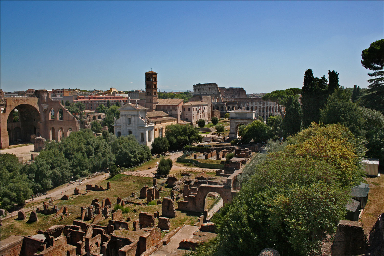 The Forum and the Colosseum
