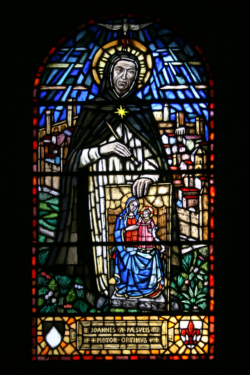 Stained Glass Window of Fra Angelico