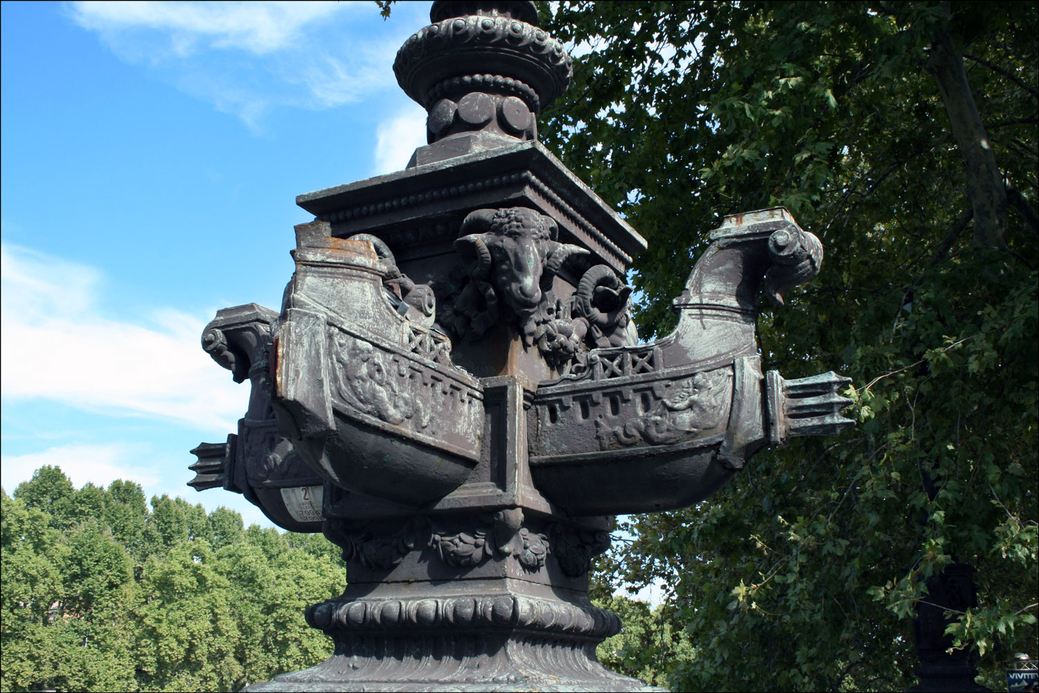 Base of Lamp on the Giuseppe Mazzini Bridge