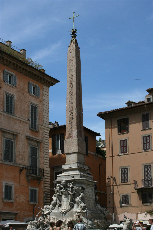 The Obelisk in the Piazza della Rotonda
