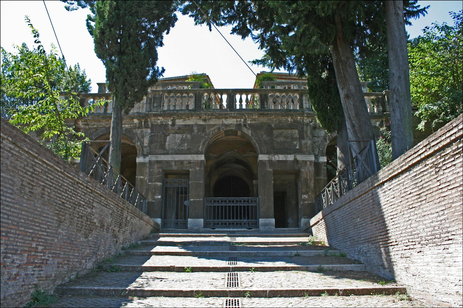Stairway to the Nymphaeum and the Farnese Gardens