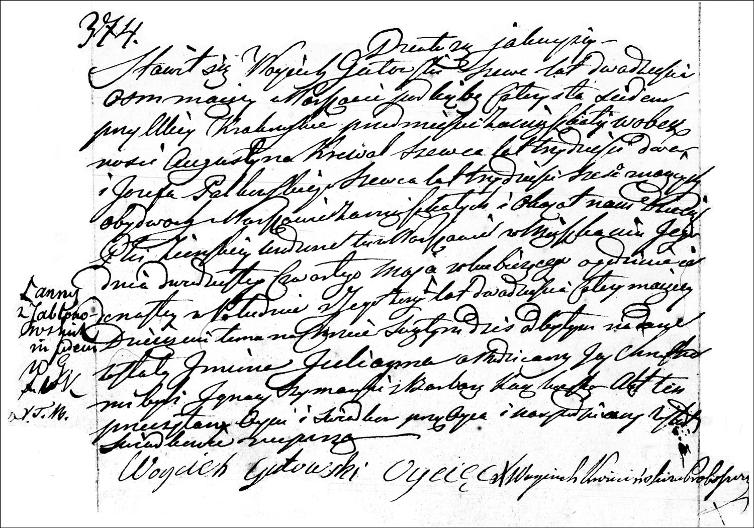 The Birth and Baptismal Record of Julianna Gutowska – 1833