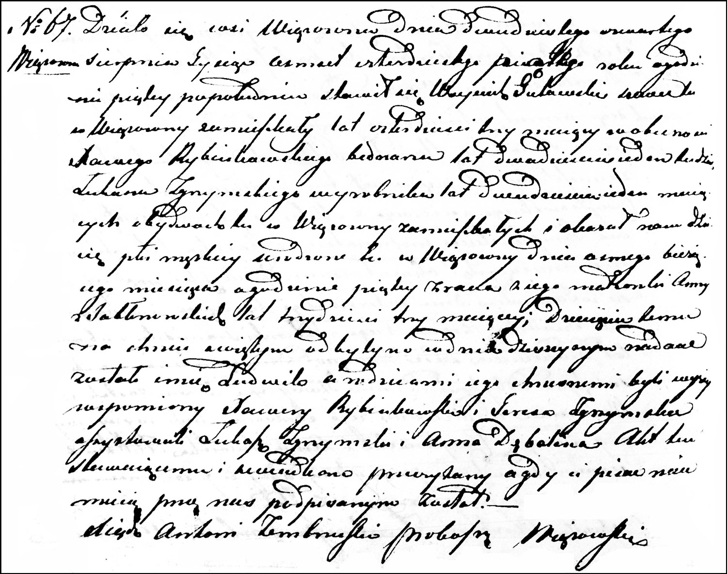 The Birth and Baptismal Record of Ludwik Gutowski – 1845