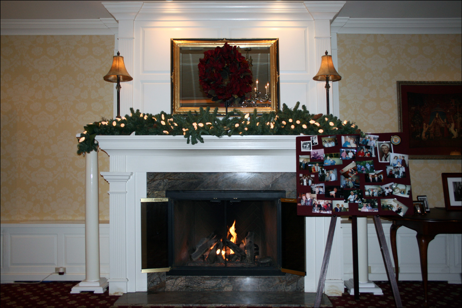 Fireplace and Family Photos
