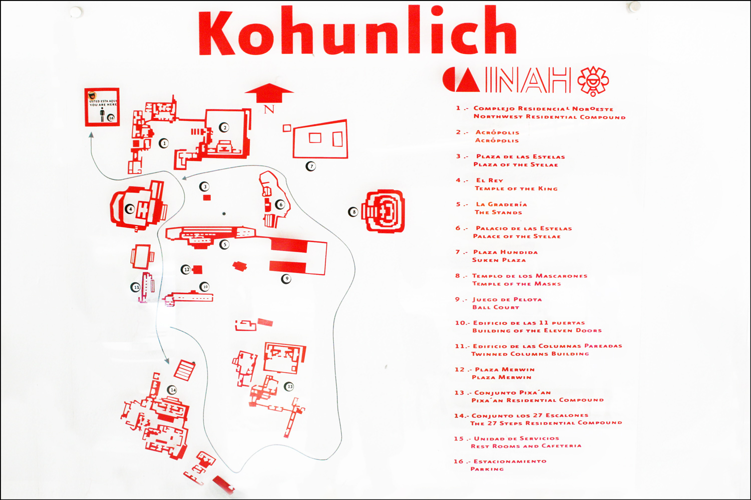 Map of Kohunlich