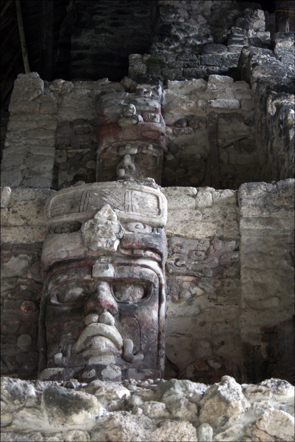 Left Side of the Temple of the Masks in Kohunlich