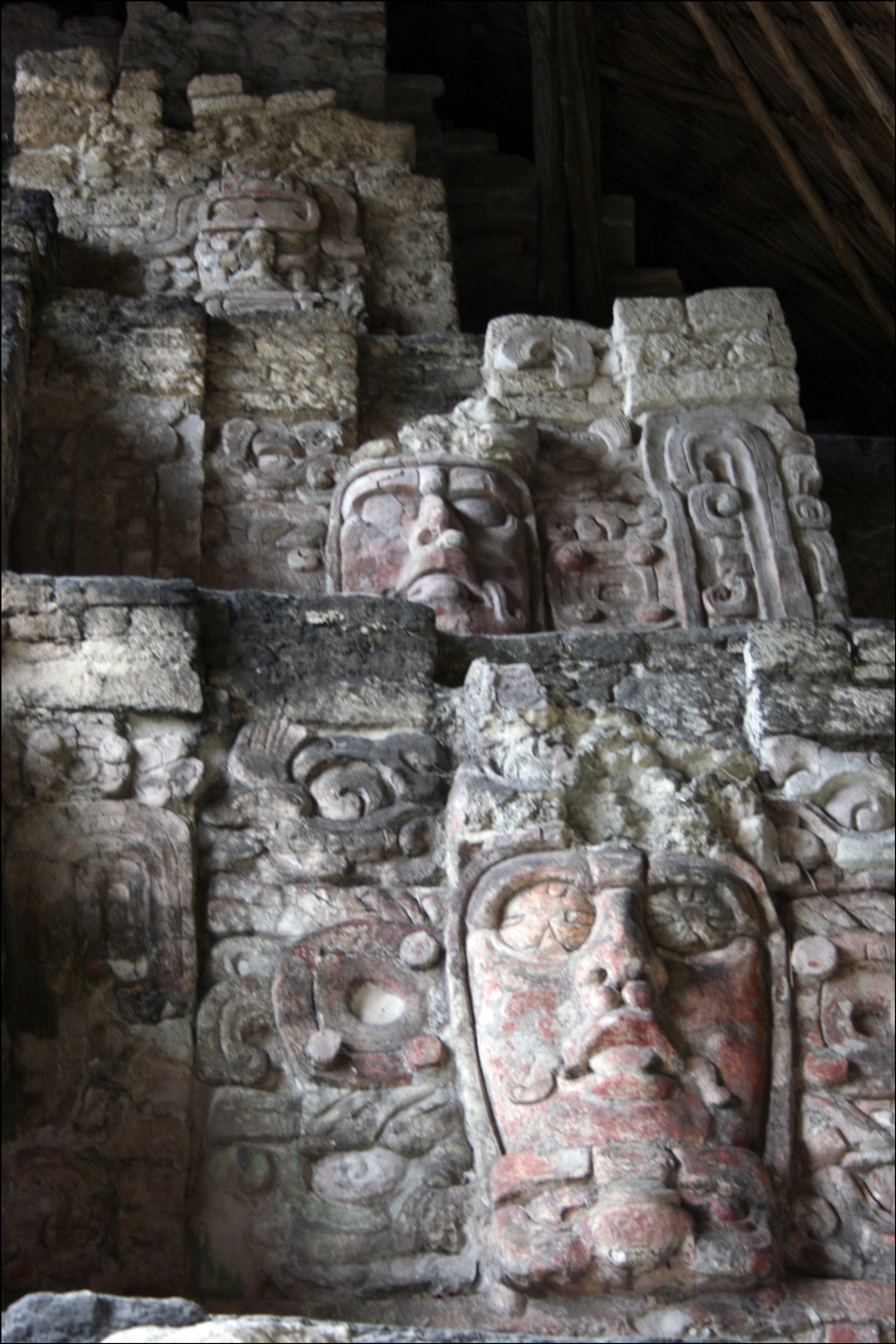 Right Side of the Temple of the Masks in Kohunlich