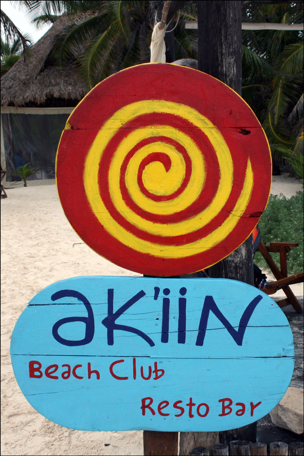 Ak'iin Beach Club Sign