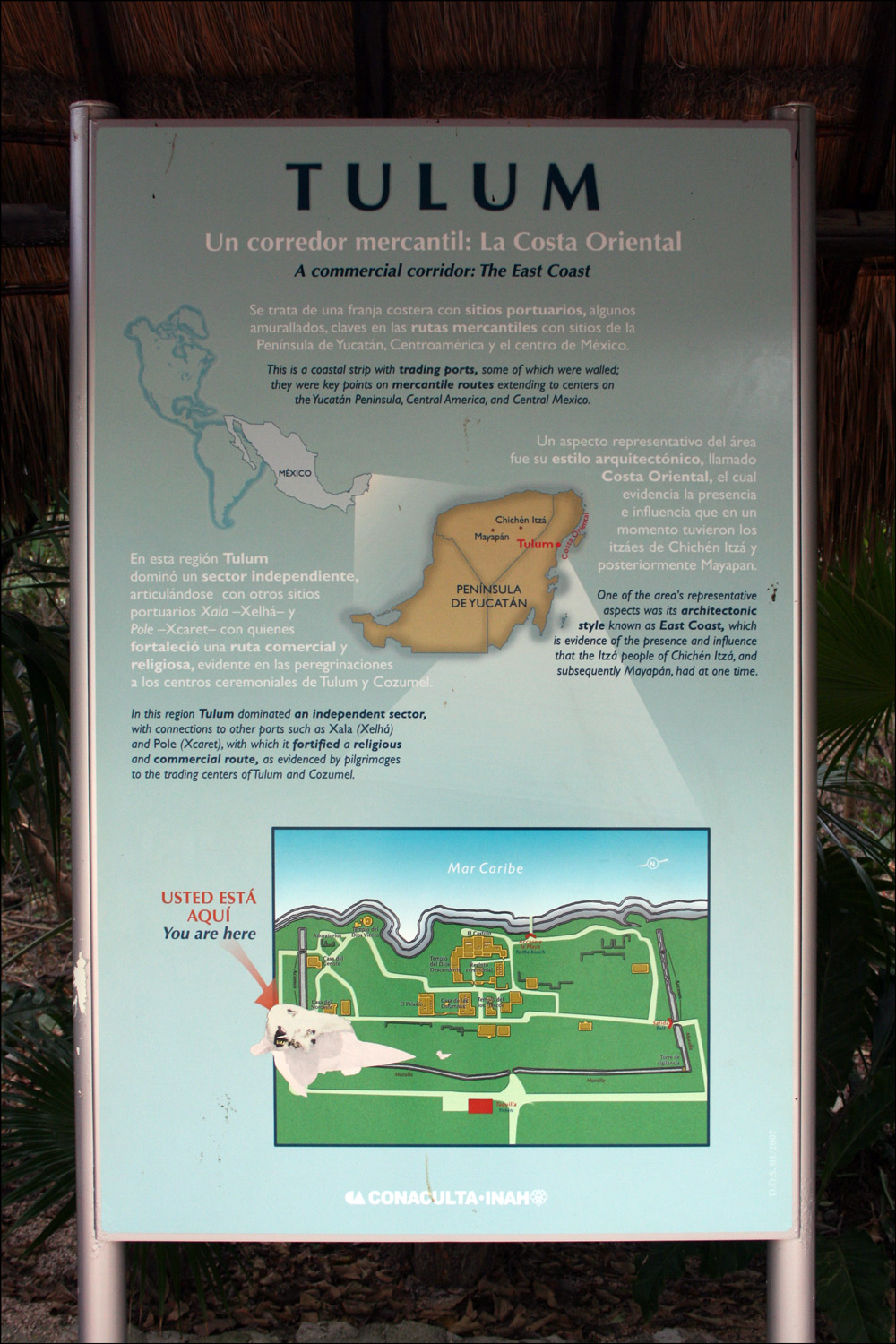 Entrance Sign to Tulum