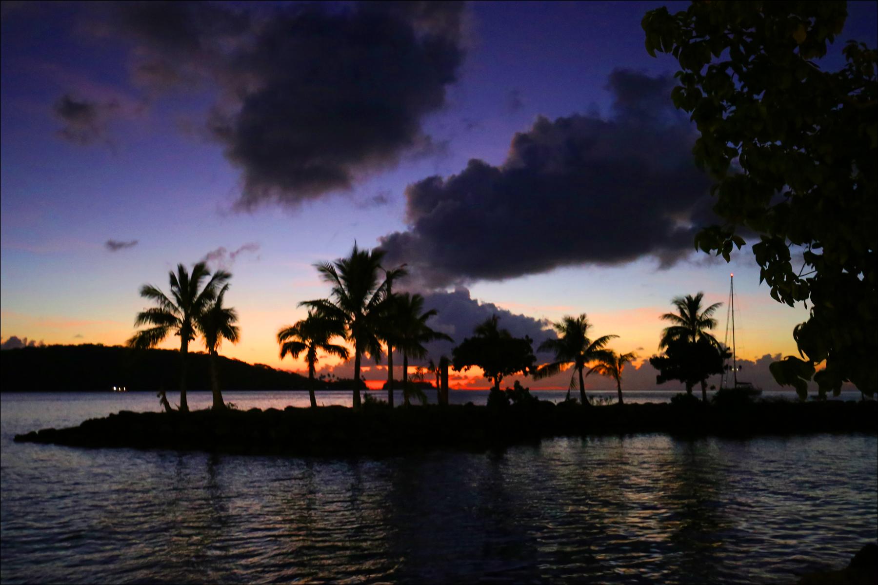 Sunset from the Beach of Bora Bora