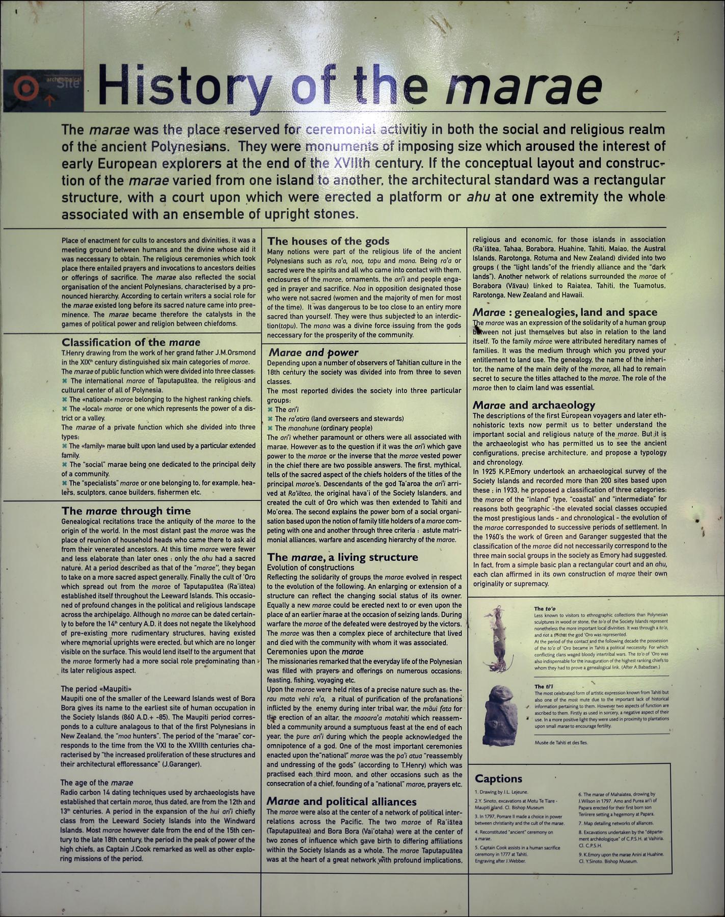History of the Marae
