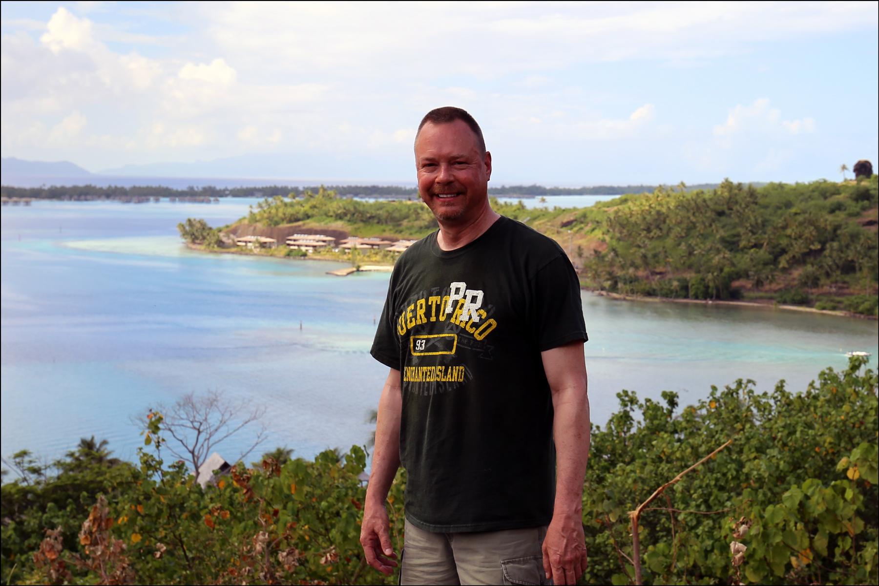 Steve on Bora Bora