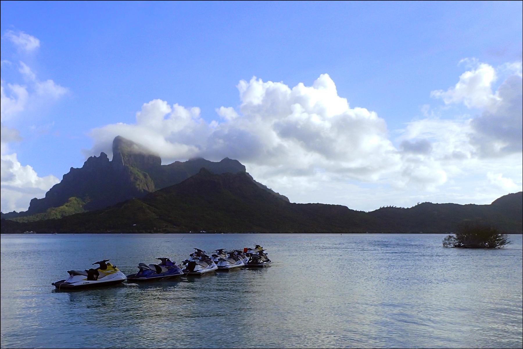 Waverunner View of Bora Bora