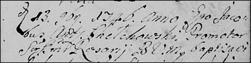 Priest Who Baptized Marianna Niedziałkowska - 1847