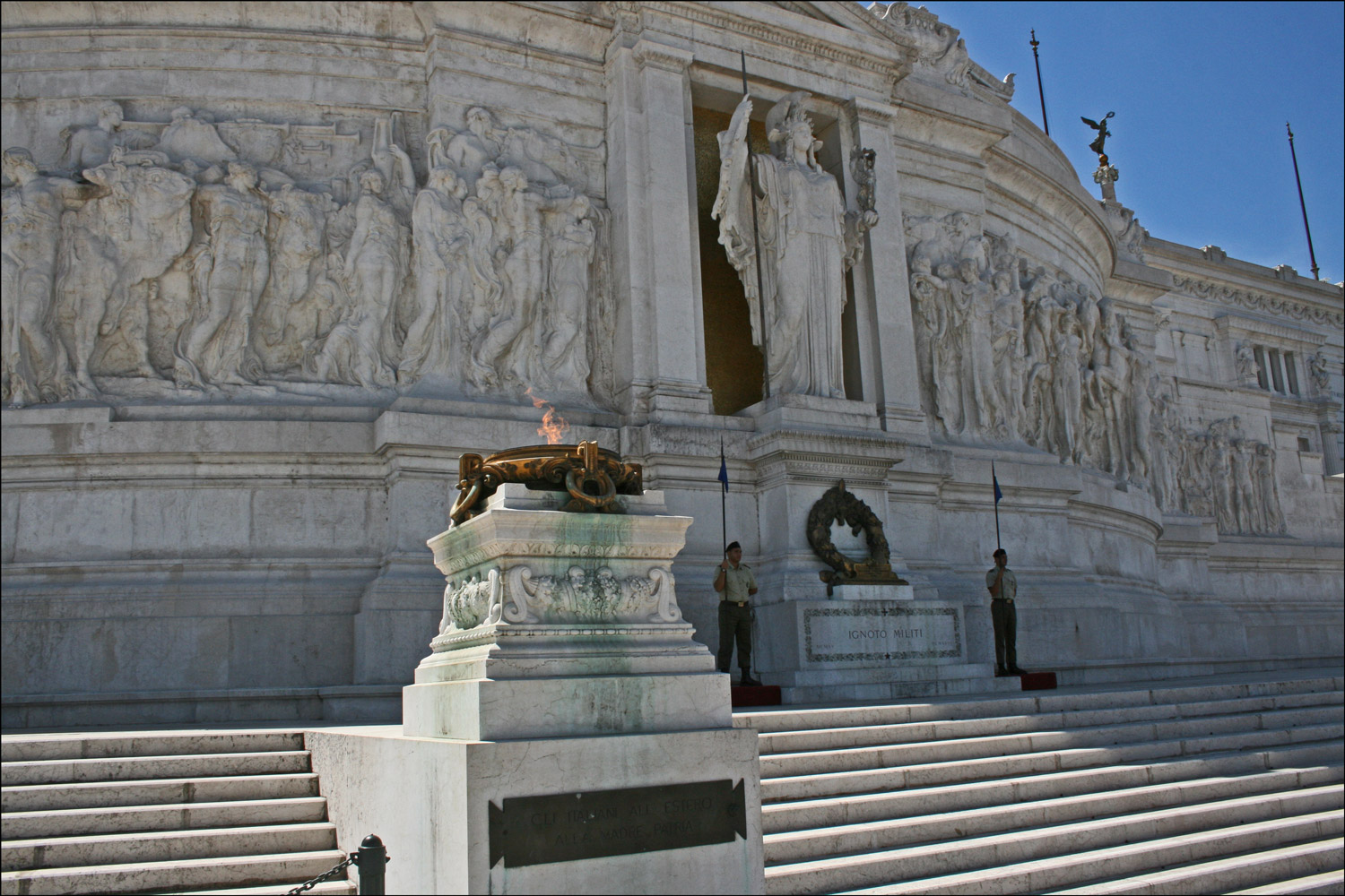 The National Monument To Victor Emmanuel Ii In Rome